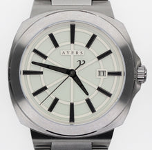 The Metropolitan MT-02 White and Grey Dial. Ayers Watches. Full lume, Automatic watch