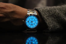 The Metropolitan MT-01 Blue Dial. Ayers Watches. Full lume, Automatic watch. SuperLuminova