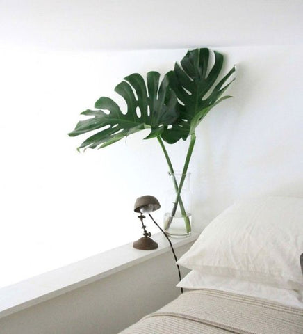 LOOM LIVING green foliage bedroom SPRING bedroom makeover