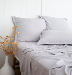 ASH GREY BAMBOO SHEETS SET LOOM LIVING ETHICALLY MADE BAMBOO BEDLINEN
