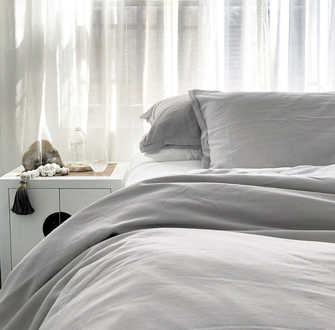 LOOM LIVING BAMBOO cotton  duvet cover pillowslips bedding sustainable ETHICAL bedlinen