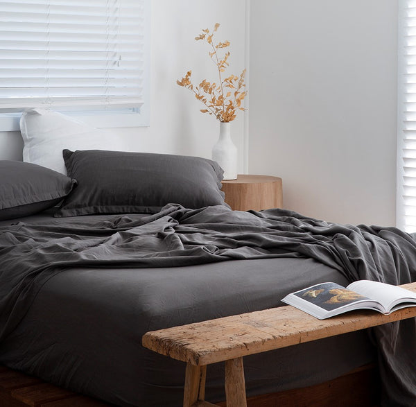 GREY BAMBOO SHEETS SETS LOOM LIVING BAMBOO BEDLINEN
