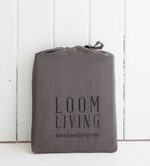 BAMBOO COTTON grey pillowslips pillowcase pair packaging LOOM LIVING