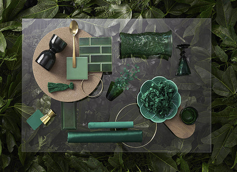 green interior trends from Temple and Webster interior green shades