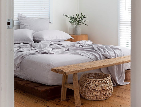 bamboo sheets fitted sheet ethically made sheets LOOM LIVING BAMBOO sheets