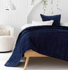 Velvet Coverlet  cotton velvet bedspread velvet bedding velvet throw  Loom Living