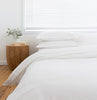WHITE duvet cover white pillowslips pillowcases white BAMBOO cotton LOOM LIVING
