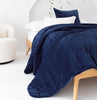 velvet bedspread cotton velvet coverlet indigo velvet throw