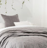 Grey velvet throw velvet coverlet cotton velvet bedding LOOM LIVING