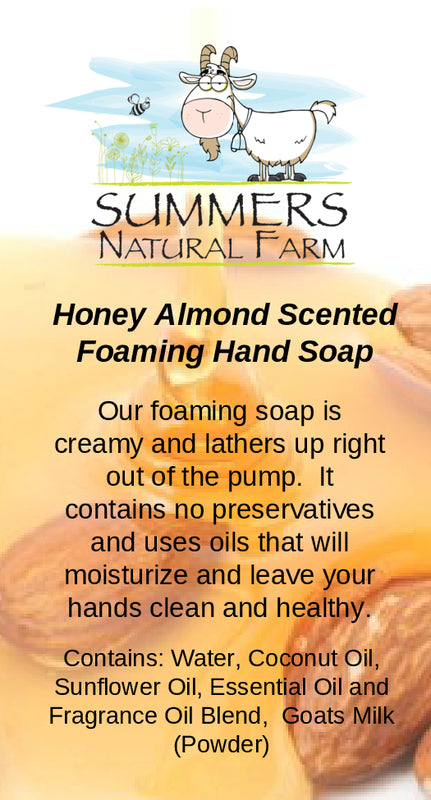 Honey Almond Foaming Milk Hand Soap with Goat Milk