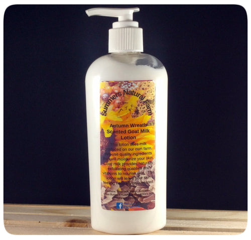 Autumn Wreath Scented Goat Milk Lotion Save