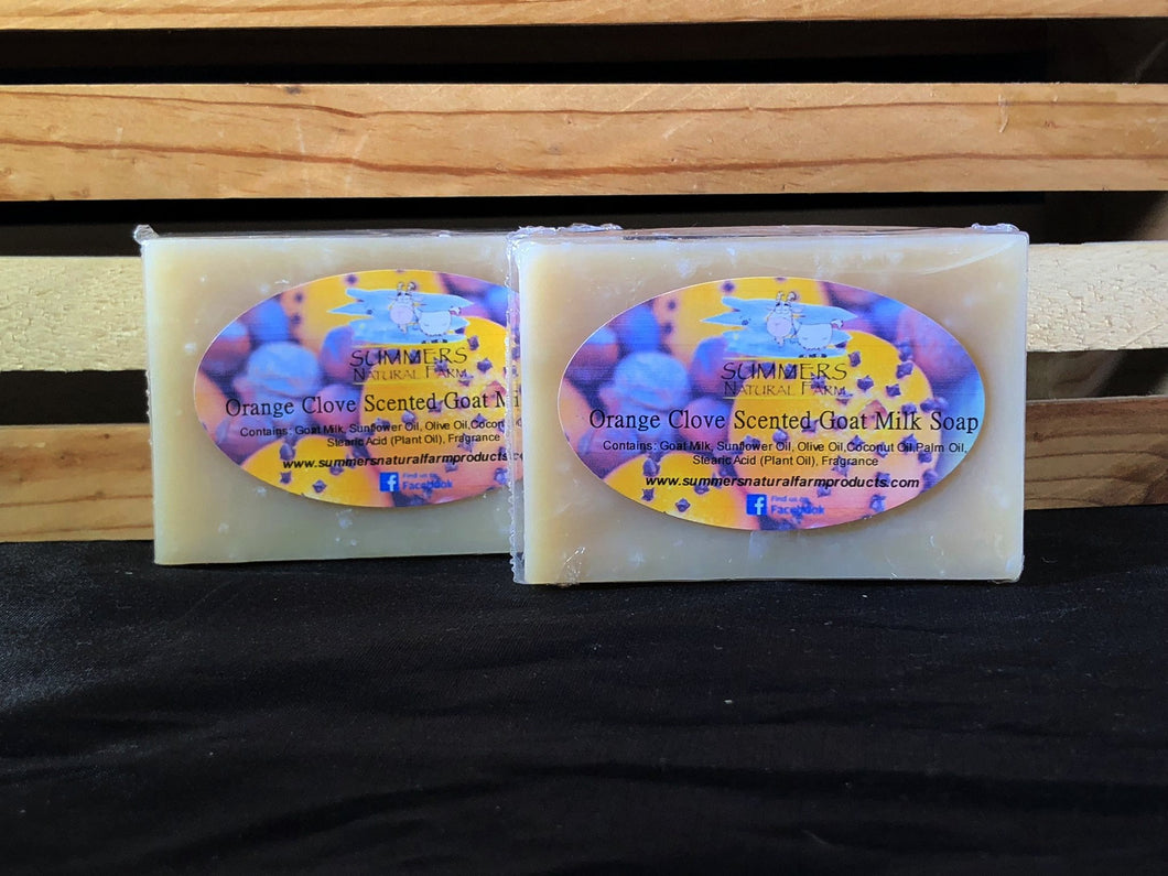 Orange Clove and Cinnamon Goat Milk Soap - 3.5oz bar