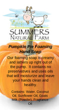 Pumpkin Pie Foaming Milk Hand Soap with Goat Milk