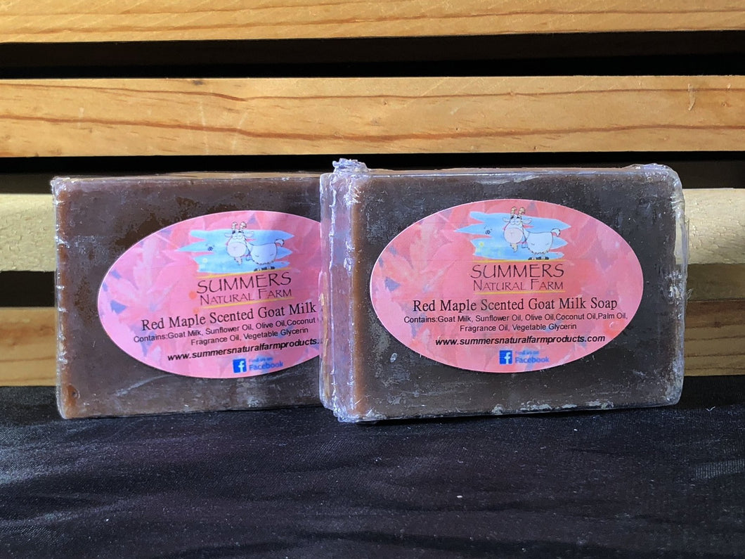 Red Maple Scented Goat Milk Soap - 3.5oz bar