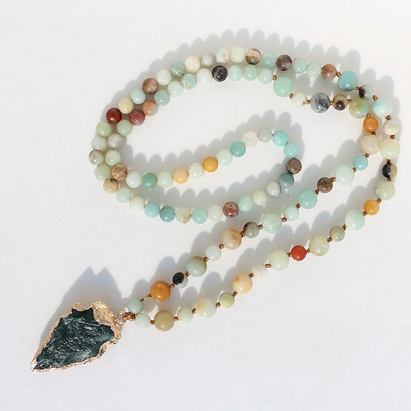 Amazonite Arrowhead Necklace