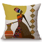 African Lady Fashion  Sofa Cushion Cover
