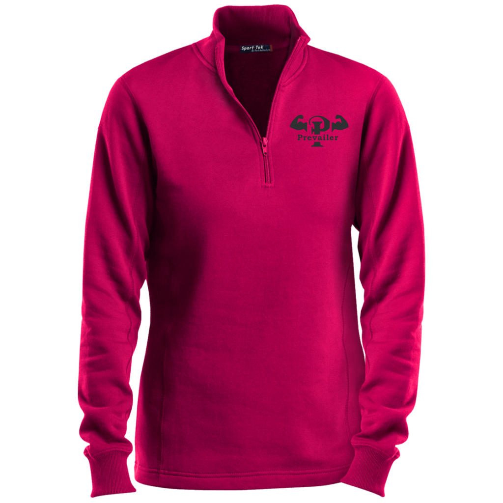 """Prevailer Hardcore"" Ladies' 1/4 Zip Sweatshirt"