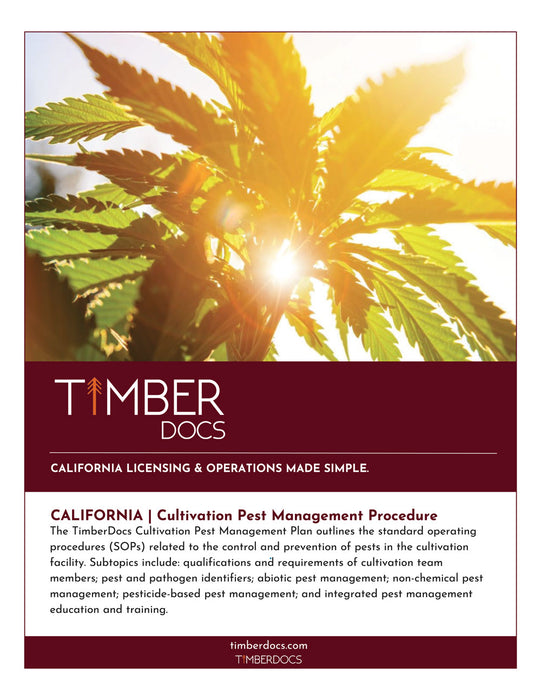 California Cultivation Pest Management Plan
