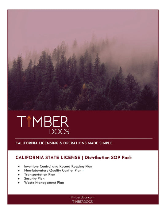California Distribution SOP Pack