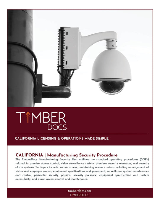 California Manufacturing Security Plan