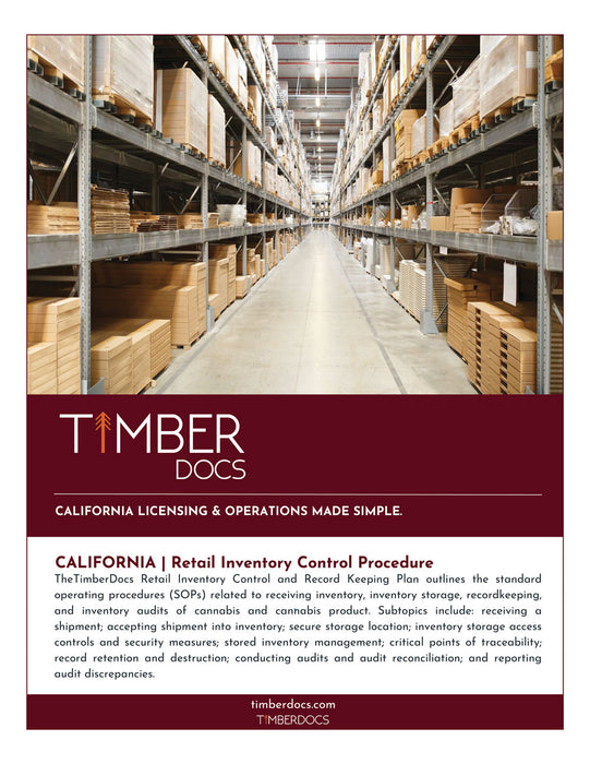 California Retail Inventory Control Plan