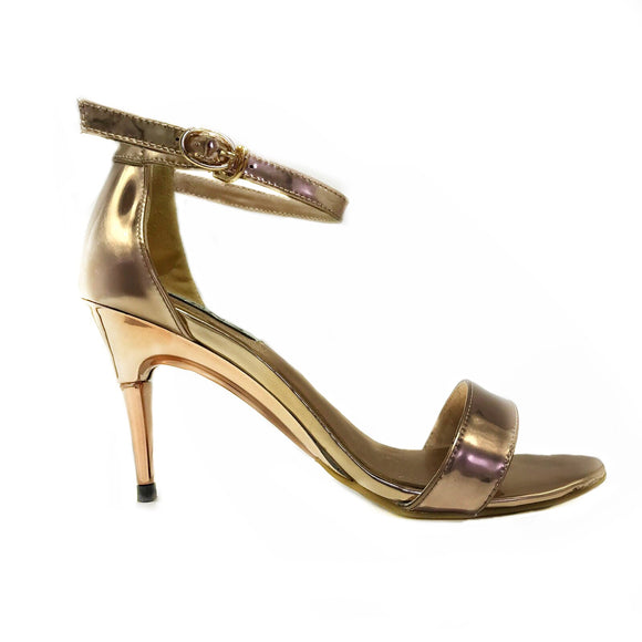 Metallic Rose Gold Sandals - GENAsg