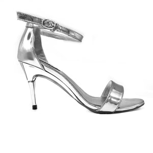 Metallic Silver Sandals - GENAsg