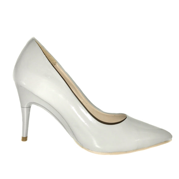 CLEARANCE Patent Grey Pumps - GENAsg