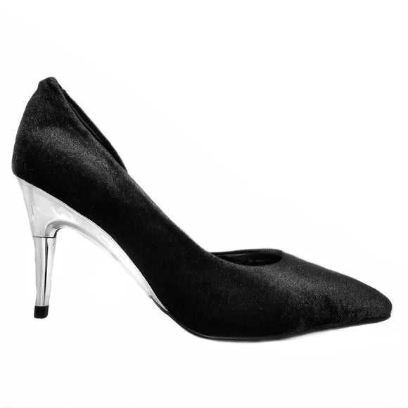 CLEARANCE Black Velvet Pumps - GENAsg