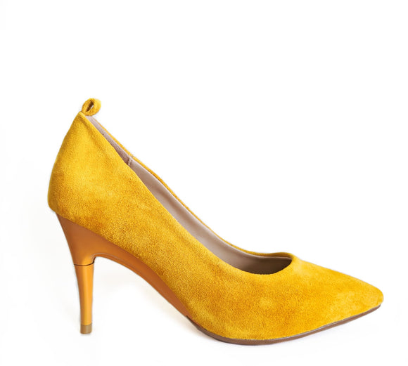 *NEW Suede Mustard Pumps - GENAsg