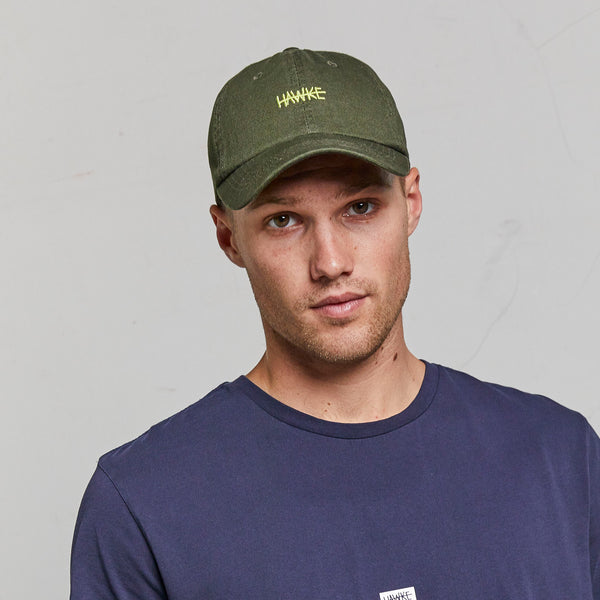 OFF DUTY | WASHED 6 PANEL CAP | GREEN