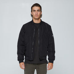 HOODED BOMBER 2.0 | BLACK