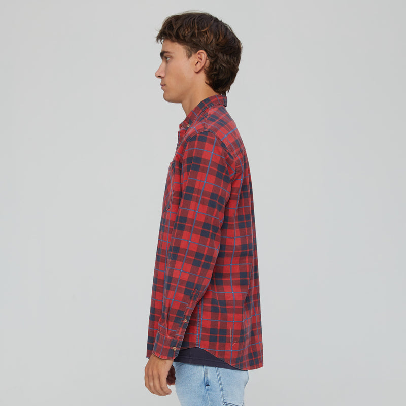 RIGHT CORD SHIRT | RED | BLUE