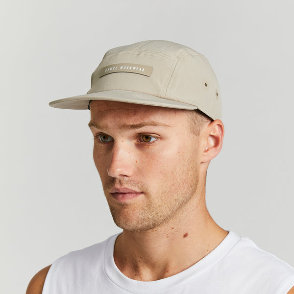 IMPACT RECYCLED CAP | 5 PANEL CAP | BEIGE