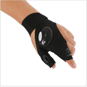 Fingerless Sleeve With LED Flashlight