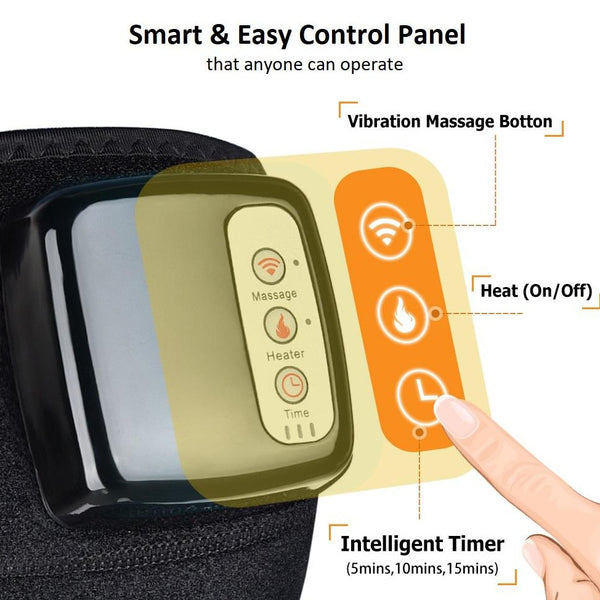 Rechargeable Heating Knee Pad & Massager for Pain Relief