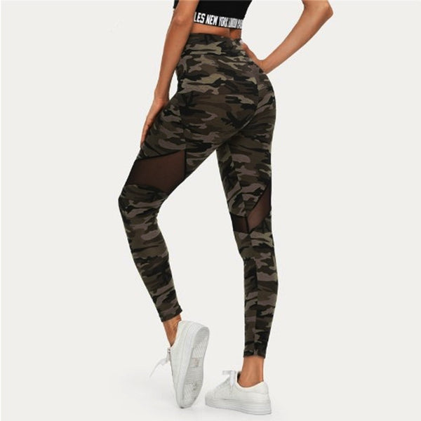 JetXFit™ High Waist Camouflage Leggings