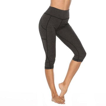 JetXFit™ Tummy Control High Waist Yoga Capri with Pockets