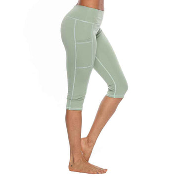 JetXFit™ Quick Drying Yoga Capri Leggings with Side Pockets