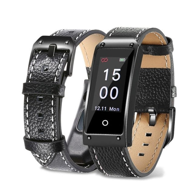 JetXFit™ Y2X Blood Pressure/Heart Rate Monitor Leather Band