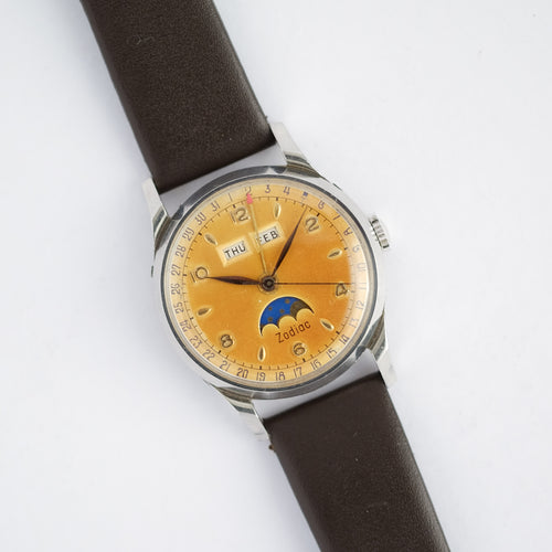 1950s Zodiac Triple Date Moonphase (Tropical)