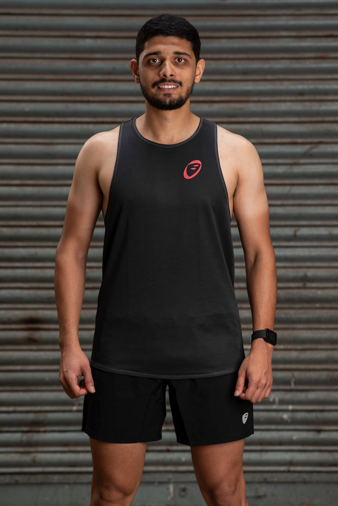 Singlet | Mens | Lightweight | Stride | Grey