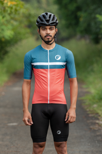 Mens Cycling Jersey | Snug-fit | Breakaway | Fireglow