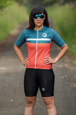Womens Cycling Jersey | Snug-fit | Breakaway | Fireglow
