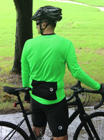 Mens Cycling Jersey | Full Sleeves | Peloton | Neon Green