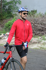 Mens Cycling Jersey | Full Sleeves | Peloton | Red