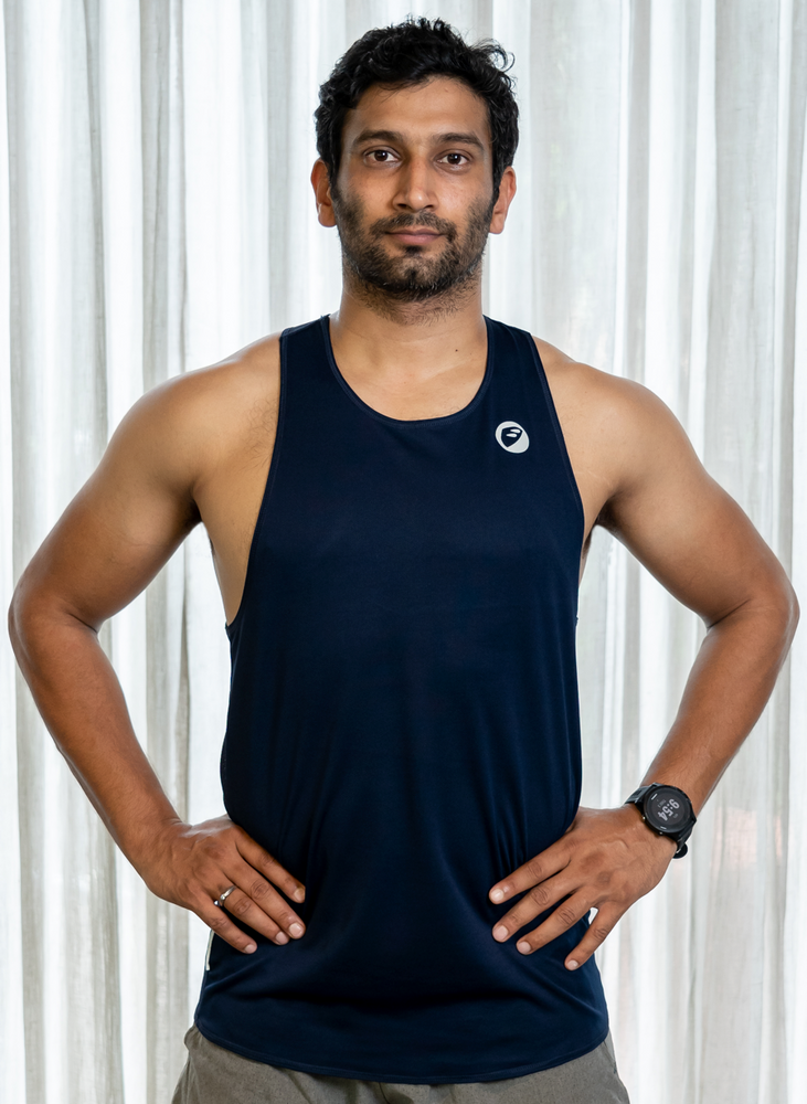 Mens | Singlet | Lightweight | Stride | Navy