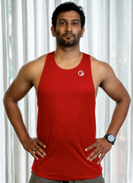 Mens | Singlet | Lightweight | Stride | Red