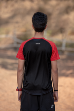 Roundneck Tshirt | Mens | Comfort-fit | Easy | Black-Red