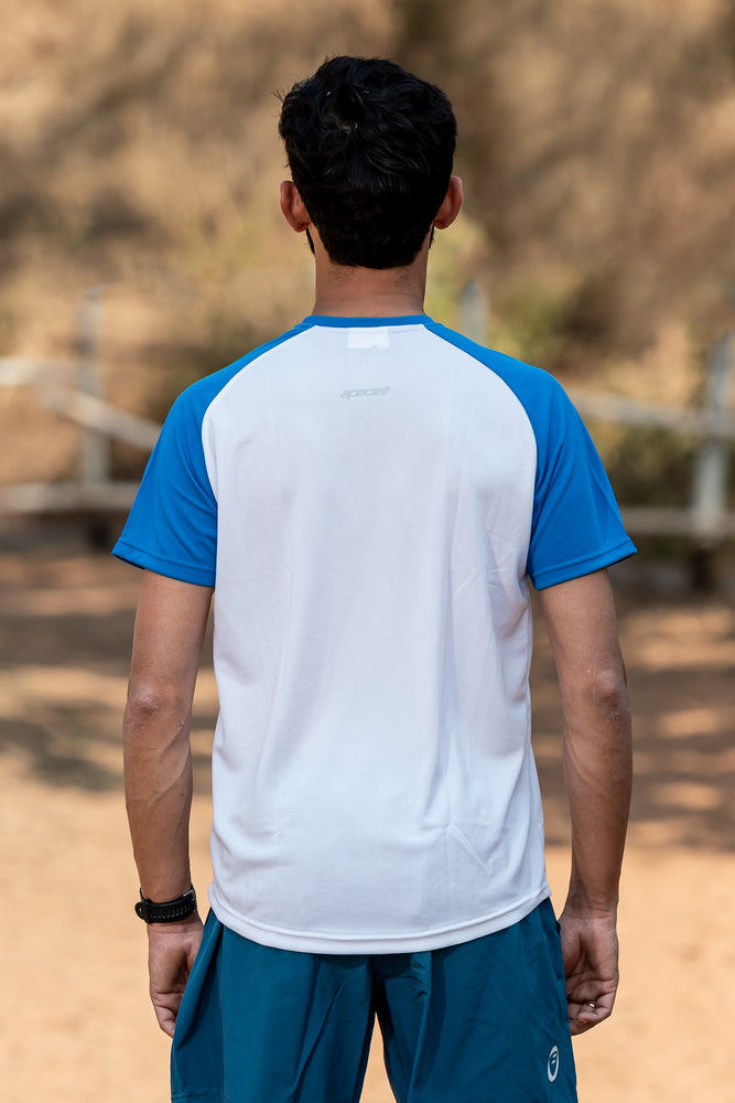 Roundneck Tshirt | Mens | Comfort-fit | Easy | White-Blue